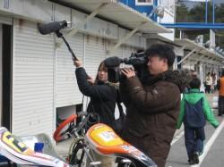 関西テレビ撮影中