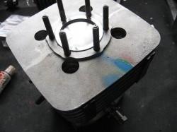 エンジンO/Hシリンダー組み付け