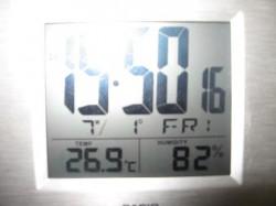 暑い 湿度が~